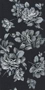 Декор Аллегро Цветы черный 20x40