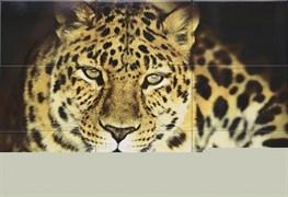 """Леопард ПН9ЛППГ Панно """"Леопард"""" 109,2x74,7  (из 9-ти плиток)"""