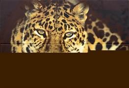 """Леопард ПН4ЛППГ Панно """"Леопард"""" 72,8х49,8 (из 4-х плиток)"""