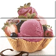 Composicion Ice Cream Панно (из 3-х пл.) 30х30