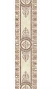 CE5R303 Carrara бордюр пол беж медальон 10,7х44