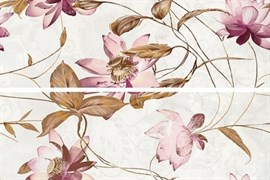 DECOR SET (2) VIOLA BLANCO 29x90