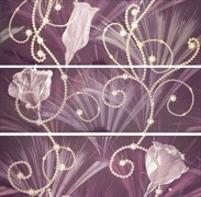 DECOR SET (3) PEMBA MORADO 30х90 (комплект 3шт)