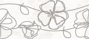 SP2G302 Stripe вставка (крупные цветы) 20х44